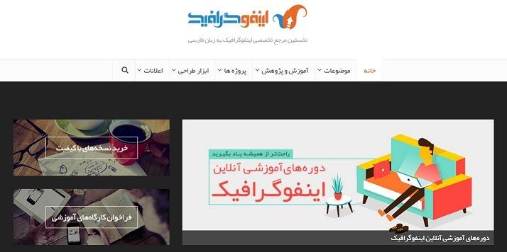 سایت اینفوگرافیک تولید کننده اینفوگرافیکهای جذاب